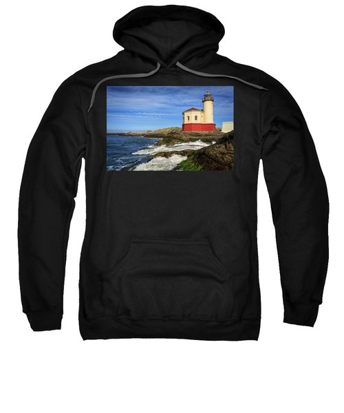 Coquille River Lighthouse At Bandon Sweatshirt