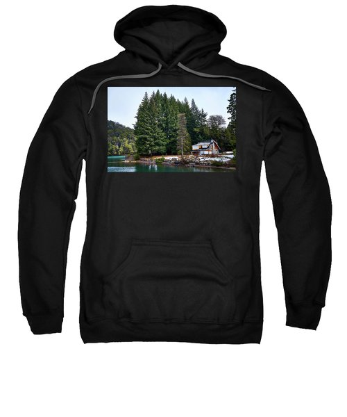 Little Cottage And Pines In The Argentine Patagonia Sweatshirt