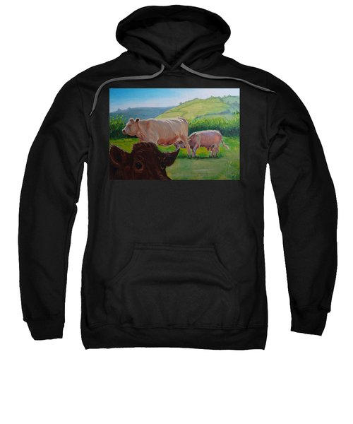Cow And Calf Painting Sweatshirt
