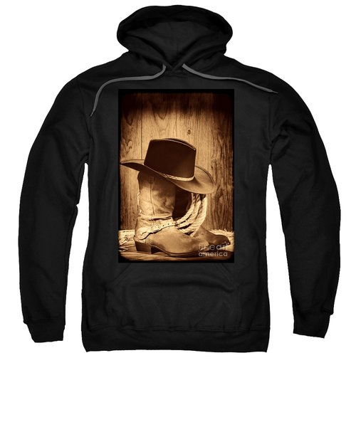 Cowboy Hat On Boots Sweatshirt