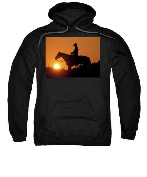 Cowboy Sunset Silhouette Sweatshirt