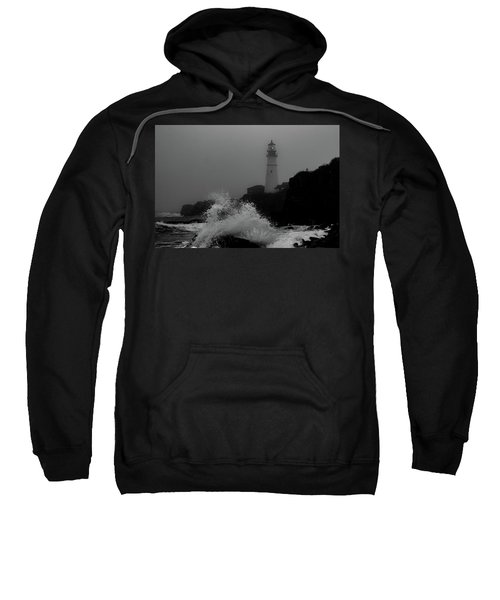 Crashing Waves On A Foggy Morning Sweatshirt