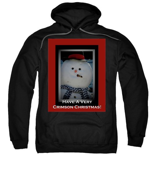 Crimson Christmas Snowman Sweatshirt