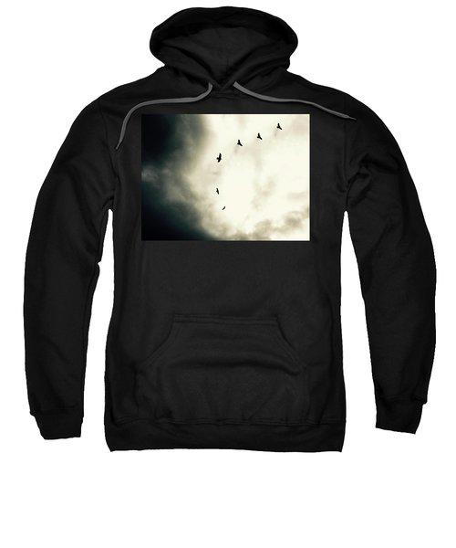 Crows On Christmas Eve 1 Sweatshirt