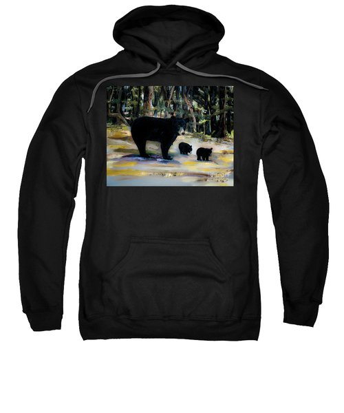 Cubs With Momma Bear - Dreamy Version - Black Bears Sweatshirt