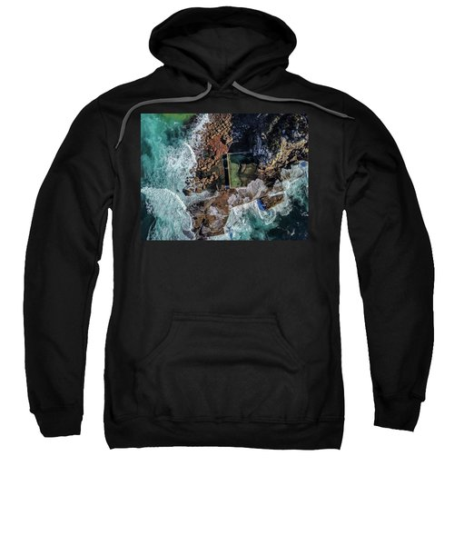 Sweatshirt featuring the photograph Curl Curl Pool by Chris Cousins