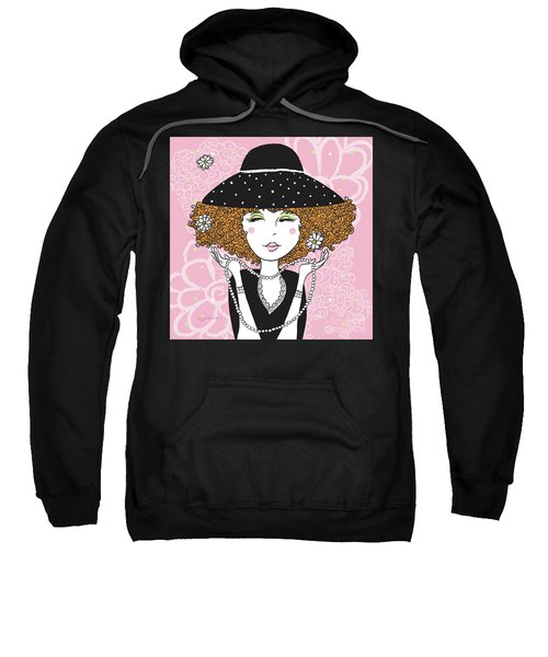 Curly Girl In Polka Dots Sweatshirt