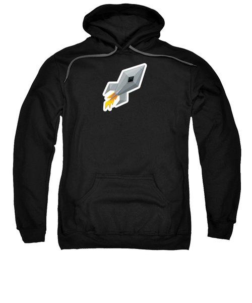 Cute Metal Rocket Ship Sweatshirt