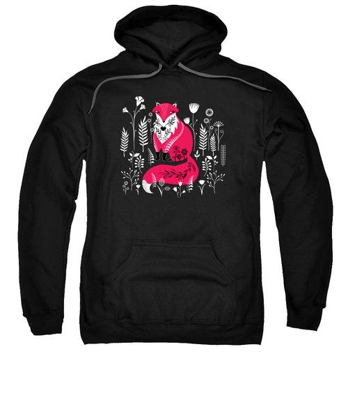 Dancing Forest Woodland Folk Fox Sweatshirt