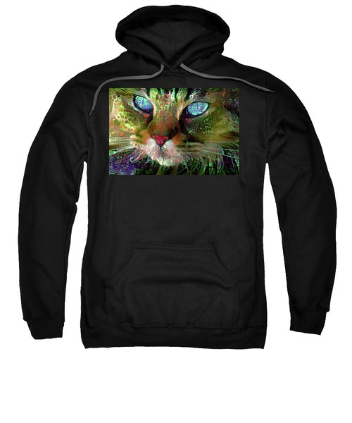 Darby The Long Haired Cat Sweatshirt
