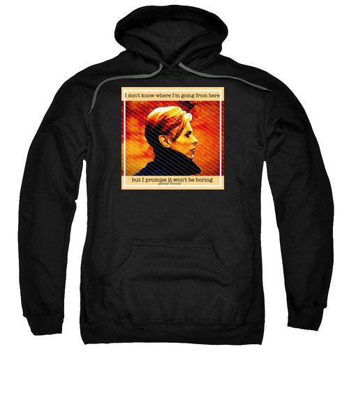 David Bowie Sweatshirt by Laura Michelle Corbin