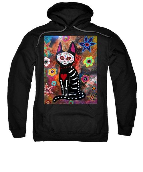Day Of The Dead Cat El Gato Sweatshirt