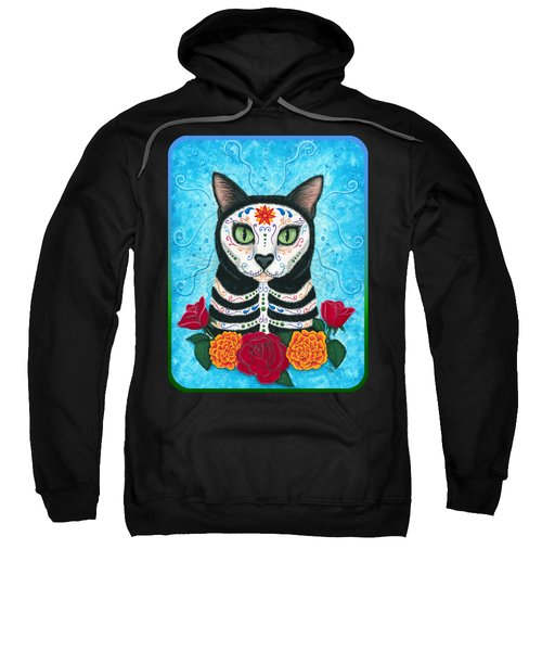 Day Of The Dead Cat - Sugar Skull Cat Sweatshirt