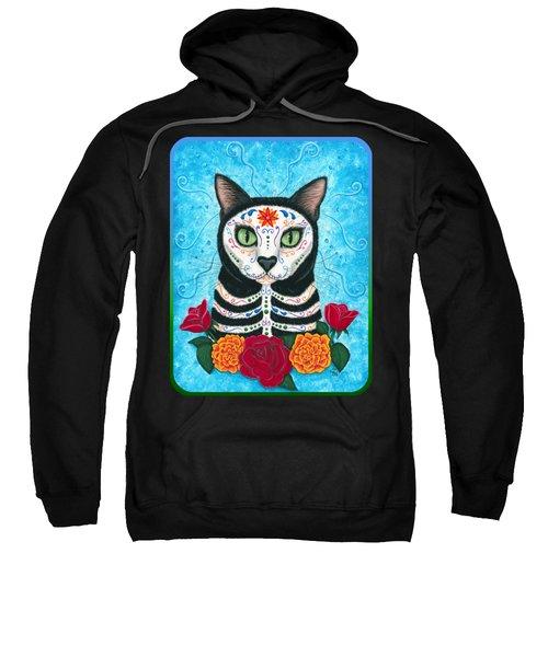 Day Of The Dead Cat - Sugar Skull Cat Sweatshirt