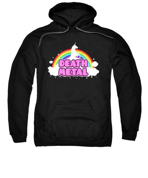 Death Metal Funny Unicorn  Rainbow Mosh Parody Design Sweatshirt