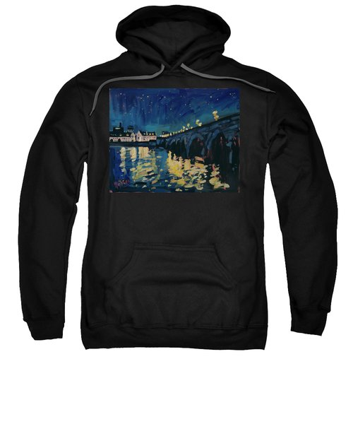 December Lights At The Old Bridge Sweatshirt