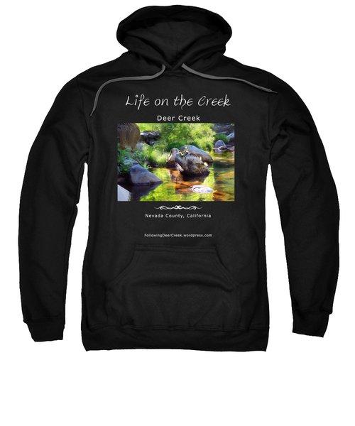 Deer Creek Ferns - White Text Sweatshirt