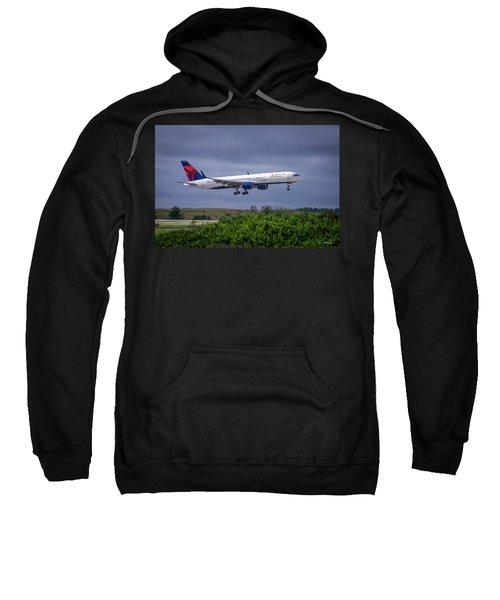 Delta Air Lines 757 Airplane N557nw Art Sweatshirt