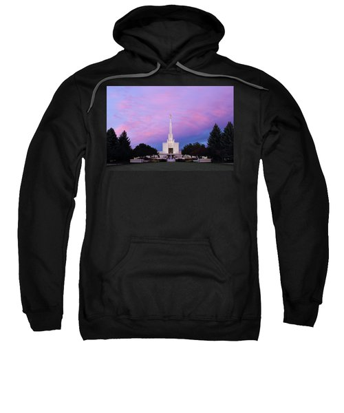 Denver Lds Temple At Sunrise Sweatshirt