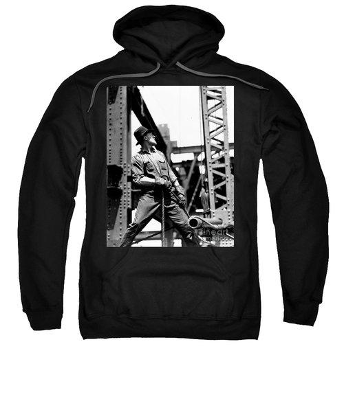 Derrick Man   Empire State Building Sweatshirt by LW Hine