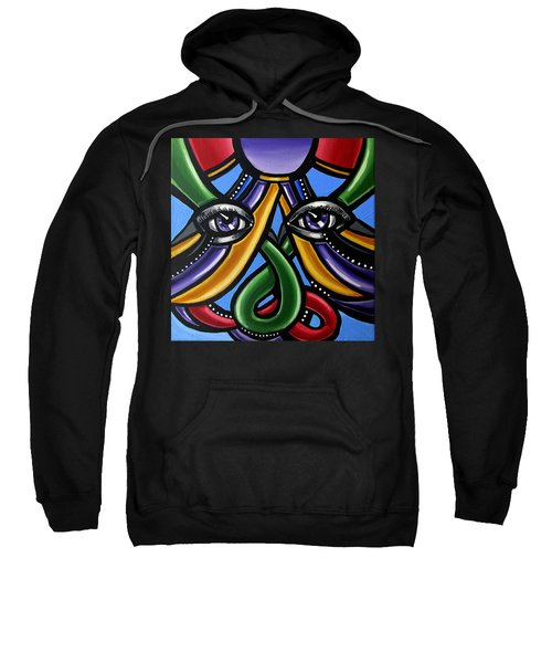 Colorful Eye Art Paintings Abstract Eye Painting Chromatic Artwork Sweatshirt
