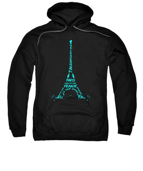 Digital-art Eiffel Tower Cyan Sweatshirt