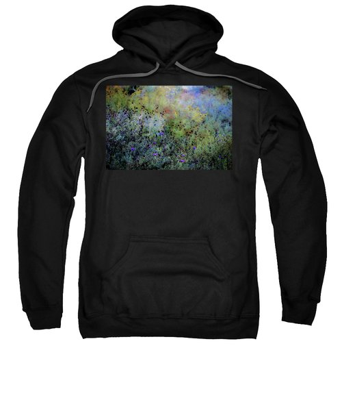Digital Watercolor Field Of Wildflowers 4064 W_2 Sweatshirt