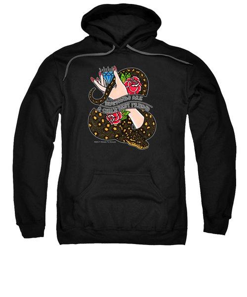 Dioamond Pythons Are A Girl's Best Friend  Sweatshirt