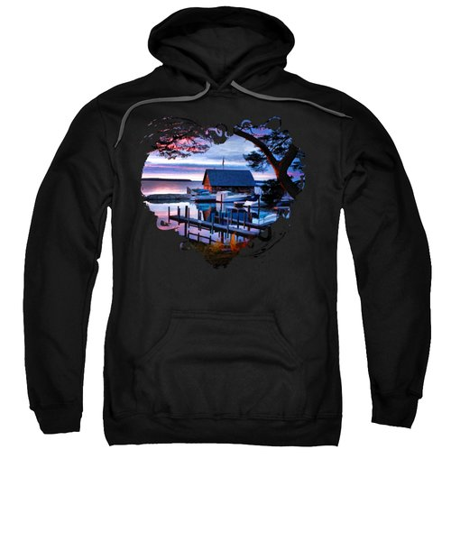Sweatshirt featuring the painting Door County Anderson Dock Sunset by Christopher Arndt