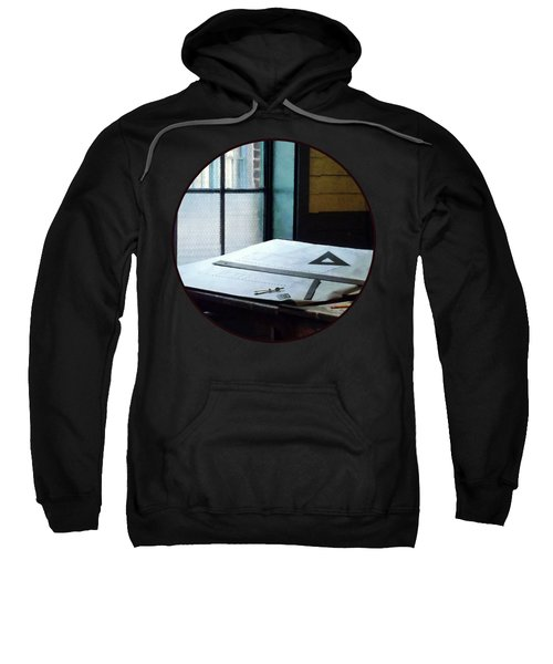 Drafting - Triangle Ruler And Compass Sweatshirt