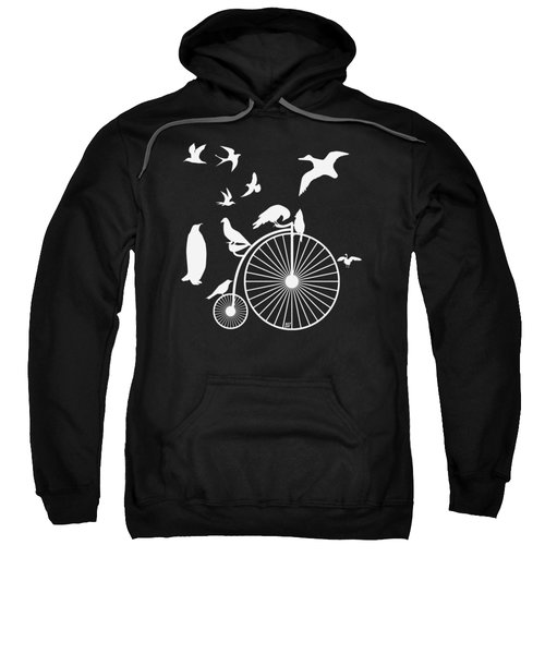 Dudes The Birds Are Flocking White Transparent Background Sweatshirt by Barbara St Jean