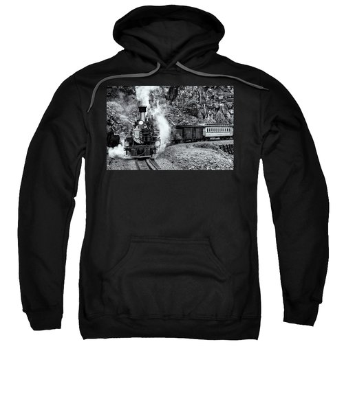 Durango Silverton Train Bandw Sweatshirt