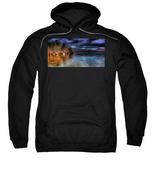 Sweatshirt featuring the photograph Early May On Limekiln Lake by David Patterson