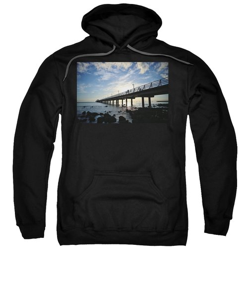 Early Morning At The Pier Sweatshirt