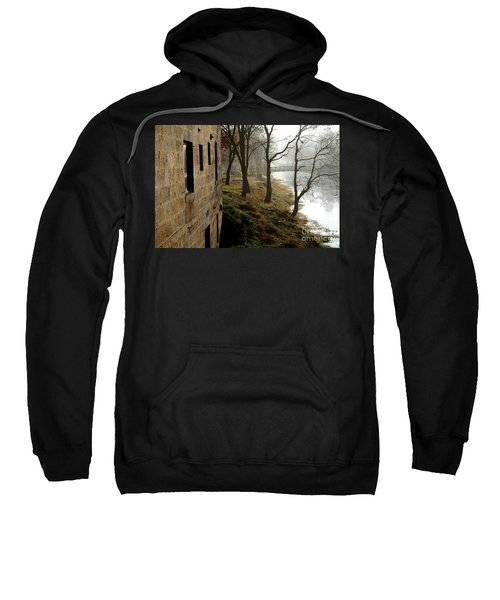 Early Morning Mist On The I  M Canal Sweatshirt