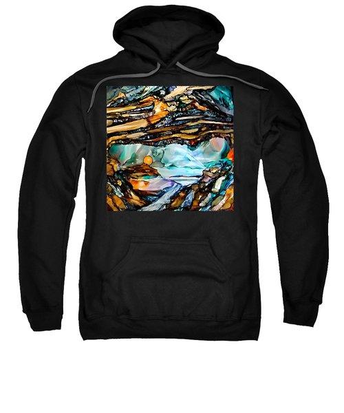Earth Day Underground Paradise Alcohol Inks Sweatshirt