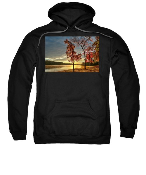 East Texas Autumn Sunrise At The Lake Sweatshirt