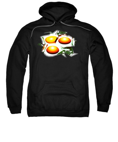 Eggs For Breakfast Sweatshirt by Anastasiya Malakhova