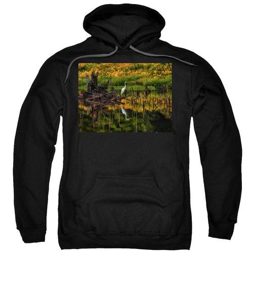 Egret Art  Sweatshirt