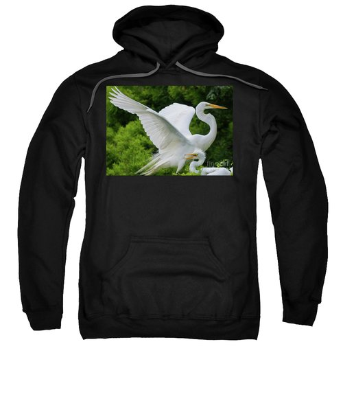 Egret Family Sweatshirt