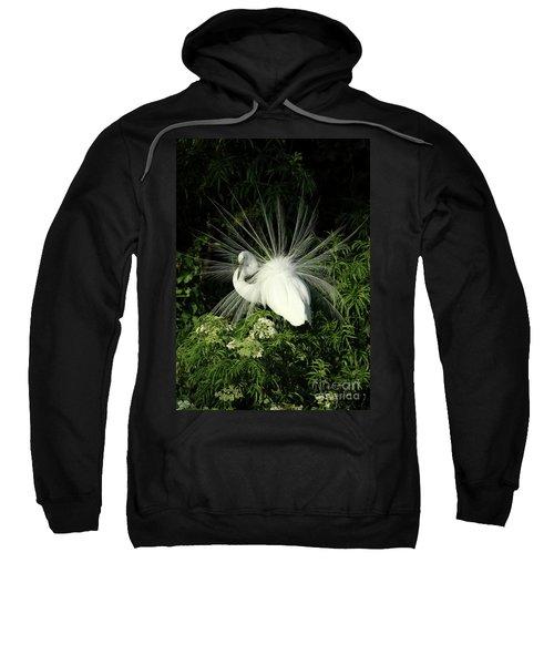 Egret Fan Dancer Sweatshirt