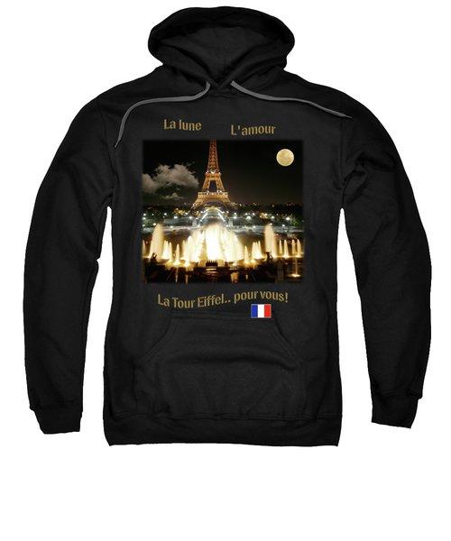 Eiffel Tower At Night Sweatshirt by Jon Delorme