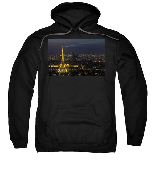 Eiffel Tower At Night Sweatshirt