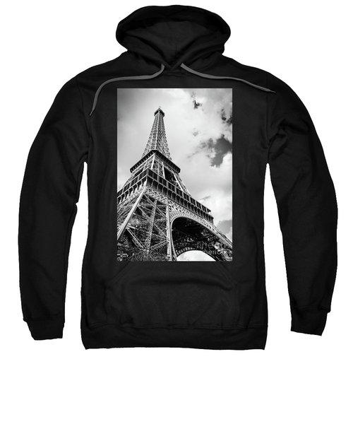 Eiffel Tower In Black And White Sweatshirt