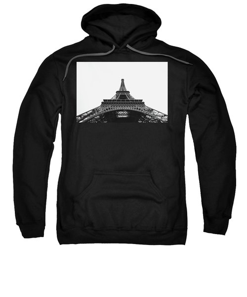 Sweatshirt featuring the photograph Eiffel Tower Perspective  by MGL Meiklejohn Graphics Licensing