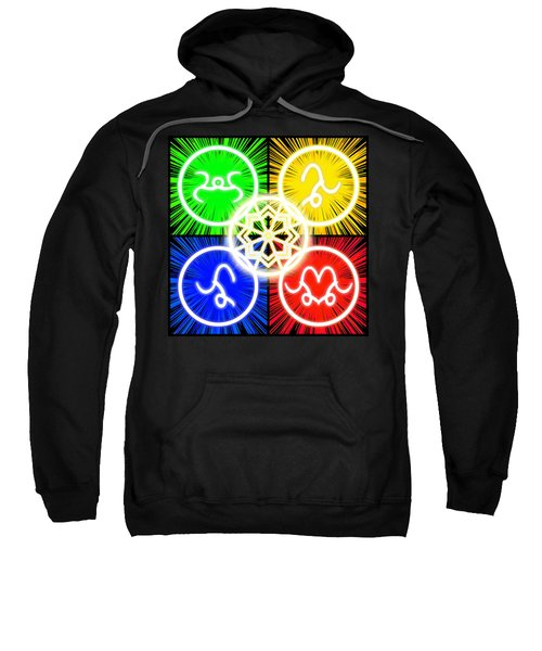 Sweatshirt featuring the digital art Elements Of Consciousness by Shawn Dall