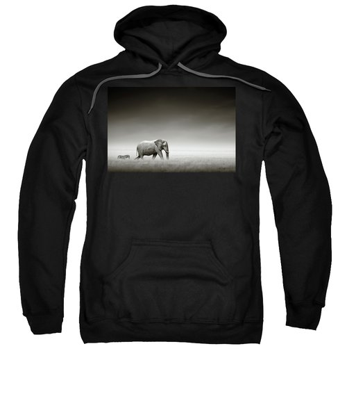 Elephant With Zebra Sweatshirt