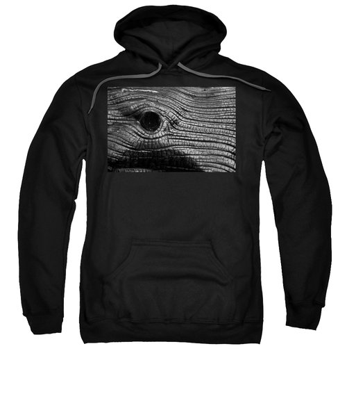 Sweatshirt featuring the photograph Elephant's Eye by Stephen Holst