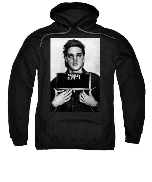 Elvis Presley Mug Shot Vertical 1 Sweatshirt