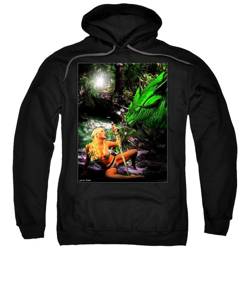 Encounter With A Dragon Sweatshirt